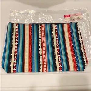 NIB retired print thirty one large zipper pouch